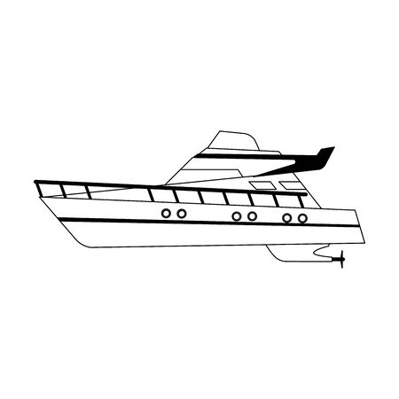 modern cruise ship icon over white background, vector illustration Stock Illustratie