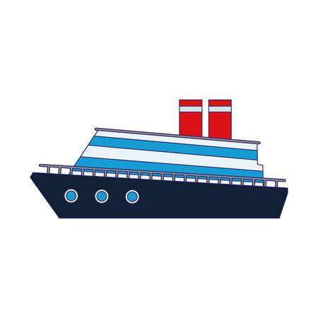 cruise ship icon over white background, vector illustration