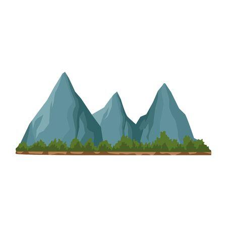 rocks peaks icon over white background, vector illustration