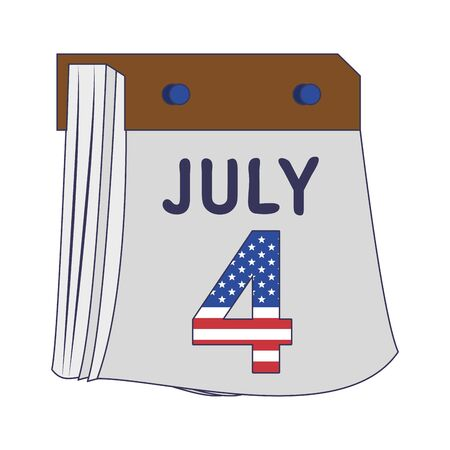 usa american independence 4th july patriotic happy celebration united states calendar day event date isolated cartoon vector illustration graphic design 向量圖像