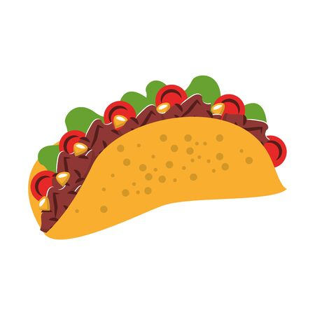 mexico culture and foods cartoons taco vector illustrationgraphic design