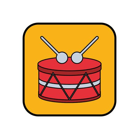 drum musical instrument isolated icon vector illustration design