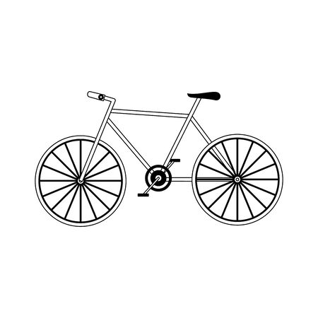 bicycle icon over white background, vector illustration