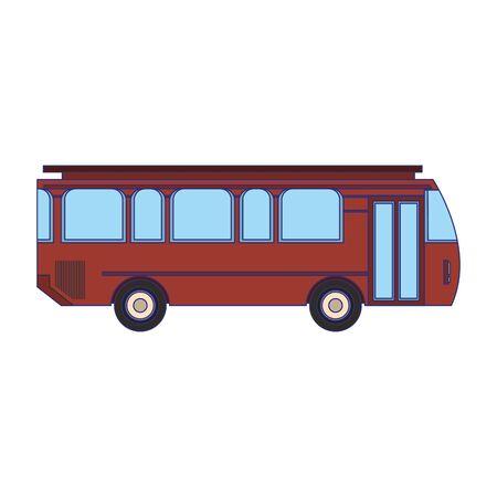 Bus public transport vehicle isolated