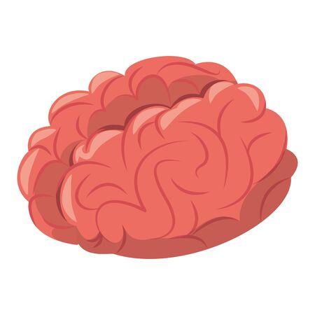 Human brain intelligence symbol cartoon isolated illustration editable image 写真素材 - 134693582