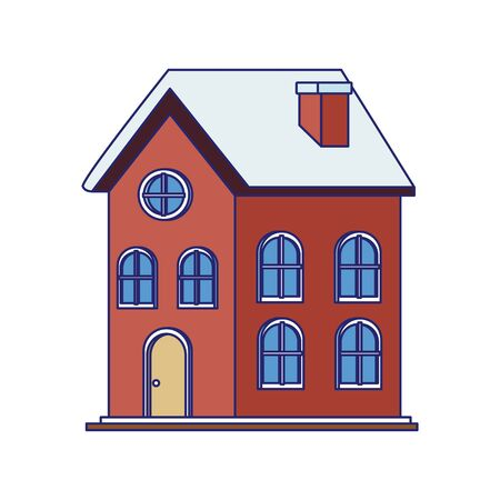 classic house icon over white background, vector illustration