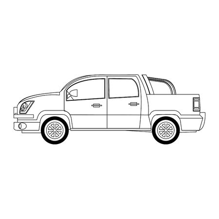 pickup truck icon over white background, vector illustration