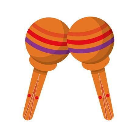 music instrument musical maracas objects cartoon vector illustration graphic design