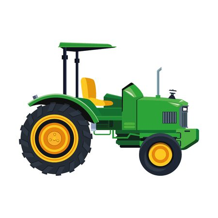 farm truck icon over white background, vector illustration Illustration