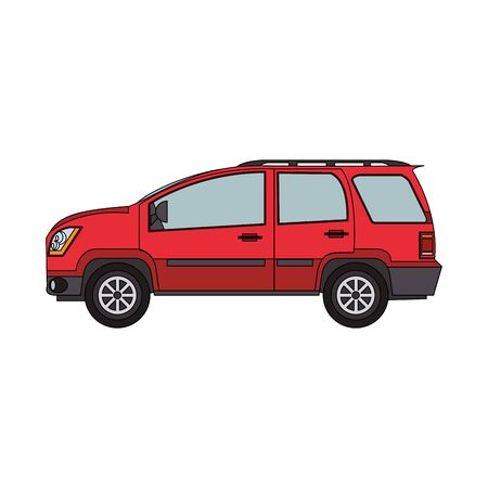 car suv icon over white background, vector illustration Ilustracja