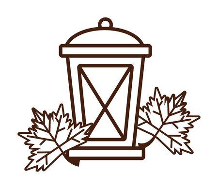 kerosene lantern antique isolated icon vector illustration design Foto de archivo - 134436190