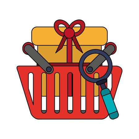 online shopping ecommerce sale customer analysis cartoon vector illustration graphic design
