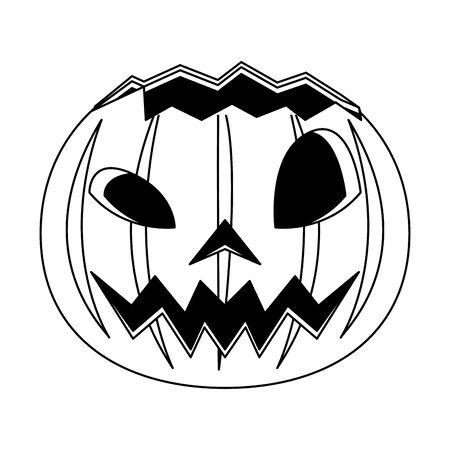 halloween october scary celebration pumpkin isolated cartoon vector illustration graphic design