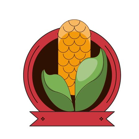 happy thanksgiving day card with corncob vector illustration design Foto de archivo - 134438837