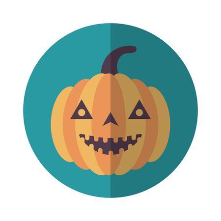 pumpkin vegetable season isolated icon vector illustration design Foto de archivo - 134438867