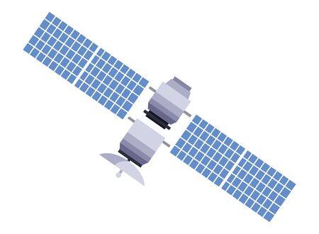 wireless internet and radio technology modern connection satellite cartoon vector illustration graphic design