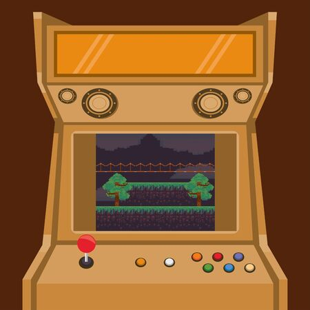 video game pixelated retro machine icon vector illustration design
