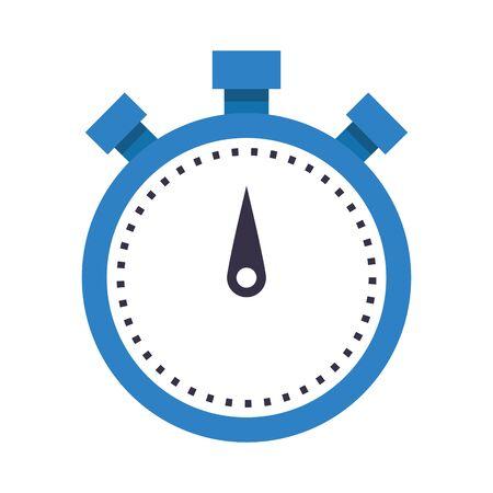 chronometer icon over white background, vector illustration Illustration