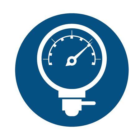 car pressure gauge assembly piece flat icon vector illustration design Reklamní fotografie - 134407747