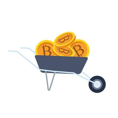 Bitcoins design, Money finance commerce market payment invest and buy theme Vector illustration Illusztráció