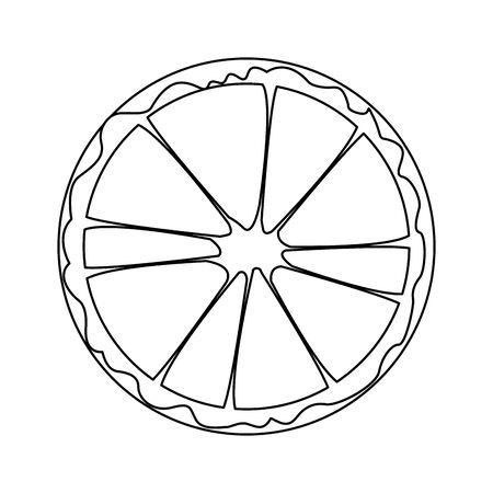 orange slice fruit icon over white background, vector illustration Illustration