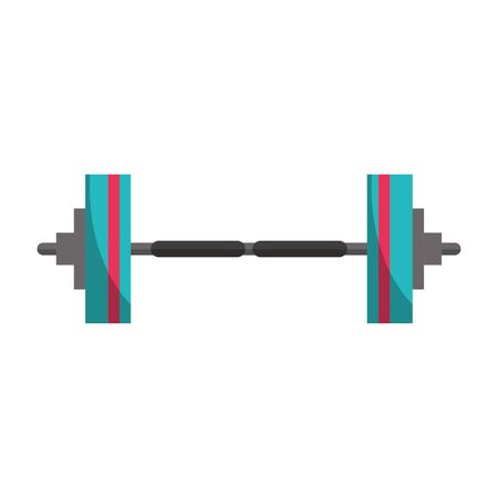 Gym dumbbell weight symbol vector illustration graphic design