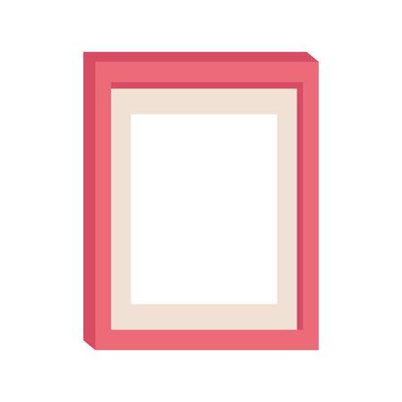 photo frame icon over white background, vector illustration Ilustracja