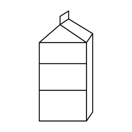 milk carton icon cartoon vector illustration graphic design Foto de archivo - 134495693
