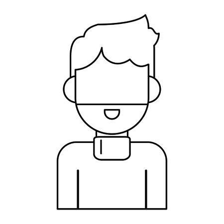 man avatar cartoon character portrait profile vector illustration graphic design 일러스트