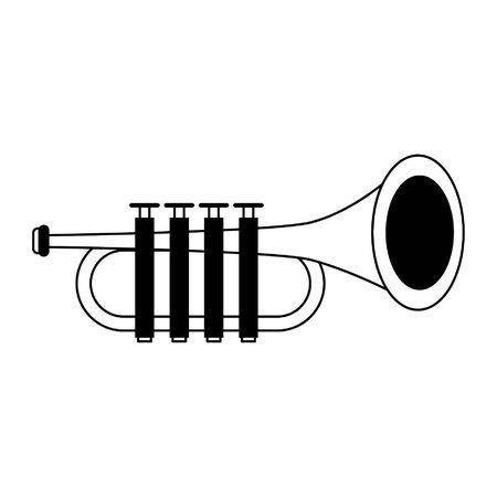 Trumpet music instrument cartoon isolated vector illustration graphic design Illusztráció