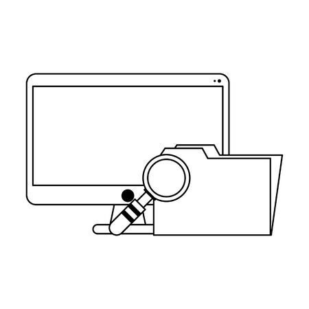 Business and office elements cartoons vector illustration graphic design