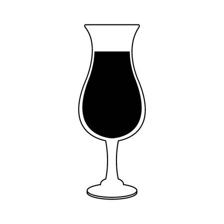 cocktail drink icon over white background, vector illustration