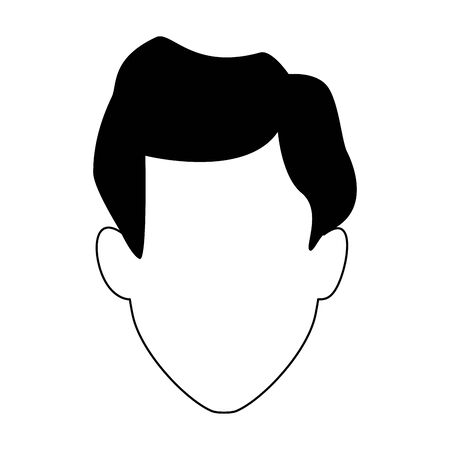 man head icon over white background, vector illustration 일러스트