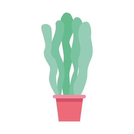 decorative plant icon over white background, vector illustration Ilustracja