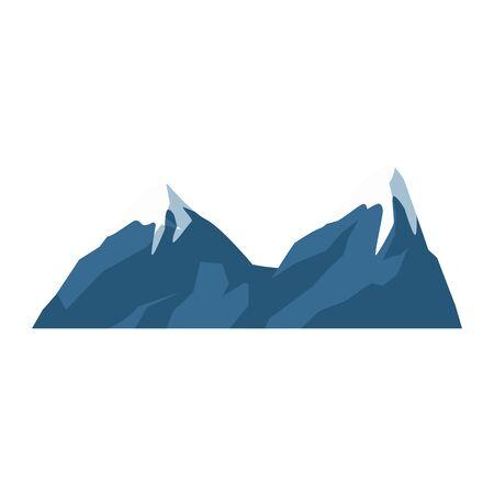 snowy mountains icon over white background, vector illustration Illusztráció