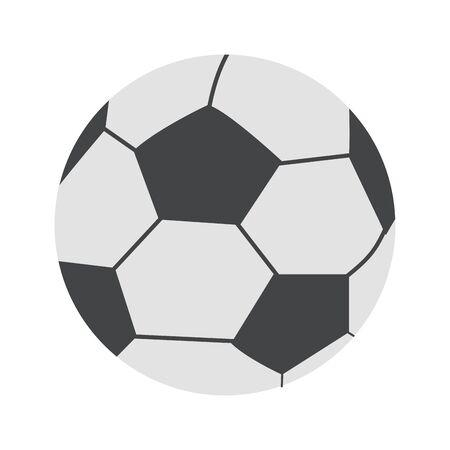 soccer ball icon over white background, vector illustration Foto de archivo - 134813174