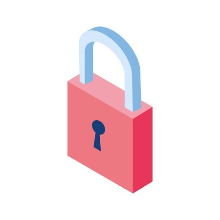 security padlock icon over white background, vector illustration Illusztráció