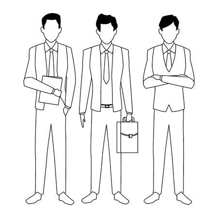 executive business men cartoon vector illustration graphic design Illustration