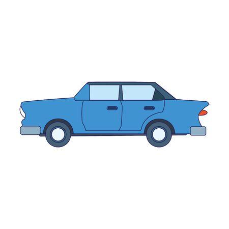 blue car icon over white background, vector illustration Foto de archivo - 134810085