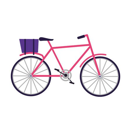 classic bicycle icon over white background, vector illustration Illustration