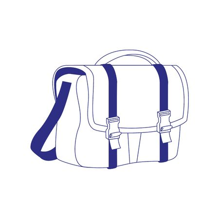 gym bag icon over white background, vector illustration