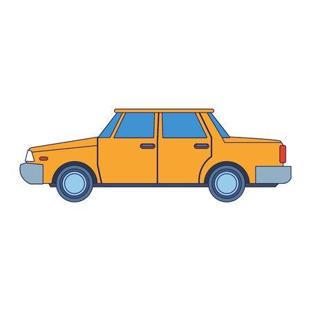 classic yellow car icon over white background, vector illustration Foto de archivo - 134809272