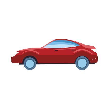 sport car icon over white background, vector illustration Foto de archivo - 134809370