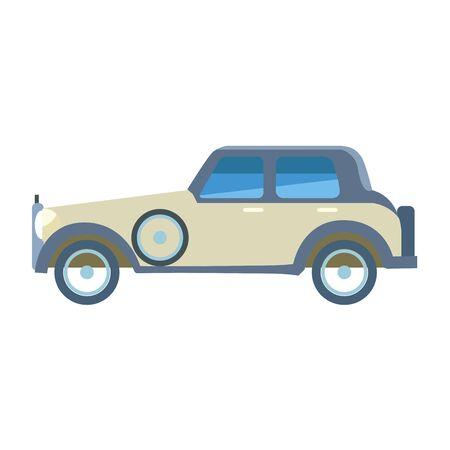 vintage car icon over white background, vector illustration Foto de archivo - 134809401