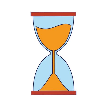 hourglass icon over white background, vector illustration Stok Fotoğraf - 134614944