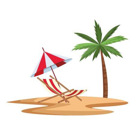 summer vacation beach chair cartoon vector illustration graphic design Foto de archivo - 134652449