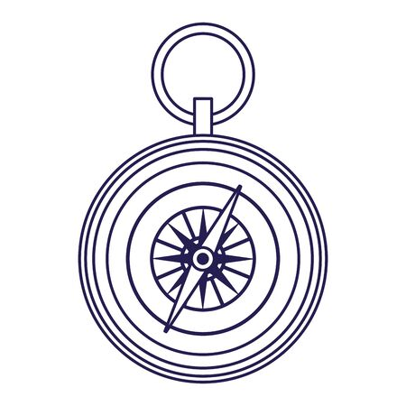 compass icon over white background, vector illustration