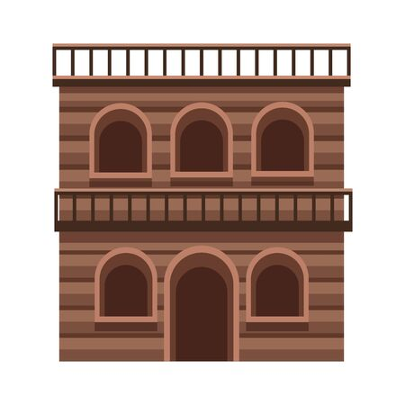 western building icon over white background, vector illustration
