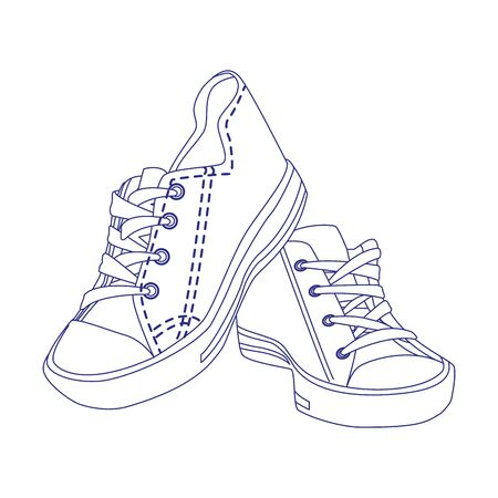 casual urban shoes icon over white background, vector illustration 向量圖像