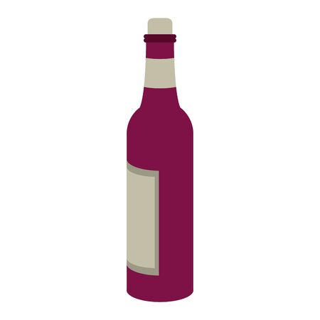 wine bottle icon image over white background, vector illustration